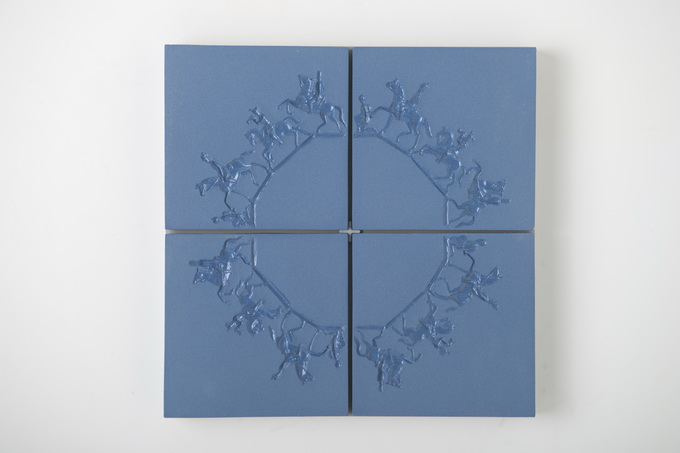 Isabel Ferrand | Blue lace on Blue tiles, 2012